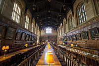 The hall of Christ Church, University of Oxford.