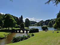 The landscape garden at Stourhead. Inspired by the great landscape artists of the seventeenth century, the landscape garden was described as a 'living work of art' when first opened in 1750s.
