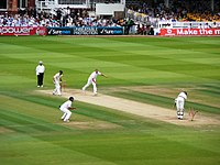 England playing Australia at Lord's Cricket Ground in the 2009 Ashes series. After winning the 2019 Cricket World Cup, England became the first country to win the World Cups in football, rugby union and cricket.