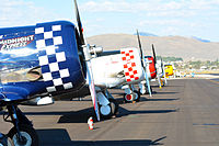 T6s line up for the 2014 Reno Air Races