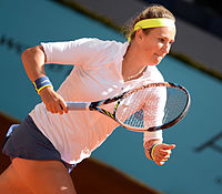 Victoria Azarenka, professional tennis player and a former world No. 1 in singles