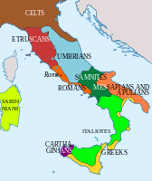 Italy (as defined by today's borders) in 400 BC.