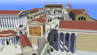 The Roman Forum, the political, economic, cultural, and religious center of the city during the Republic and later Empire
