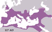 The Roman Empire reached its greatest extent under Trajan in AD 117