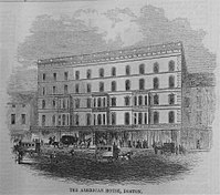 American House, Hanover St., 1850s (illustration from Gleason's Pictorial)