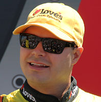 David Gilliland won the pole position, the first for Front Row Motorsports.