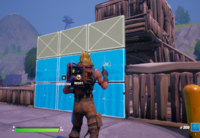 The player can build structures as defense, buildings, or to gain the high ground over enemies.