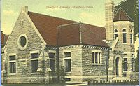 Stratford Public Library, as seen in a 1909 postcard