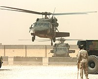 Sikorsky Aircraft Black Hawk helicopters in Iraq in 2005