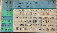 Purple tour concert ticket from 1994