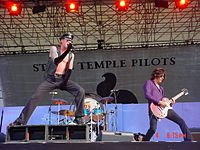 Stone Temple Pilots performing at the Rolling Rock Town Fair in August 2001.