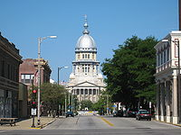 Illinois State Capitol in downtown Springfield