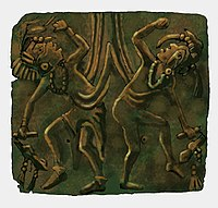 Mississippian copper plate found at the Saddle Site in Union County, Illinois