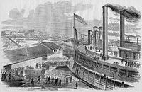 Embarkation of Union troops from Cairo on January 10, 1862