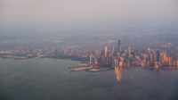 Chicago on Lake Michigan, the third-largest city in the United States