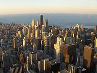 Chicago on Lake Michigan, the third-largest city of the United States