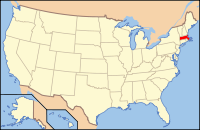 The location of the Commonwealth of Massachusetts in the United States of America