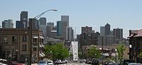 Downtown Denver in 2007, looking southeast from the Highland neighborhood