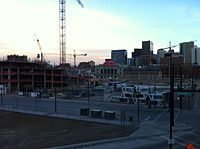 Construction in Denver's booming Union Station neighborhood