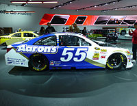 The Aaron's-sponsored No. 55 Toyota Camry of MWR