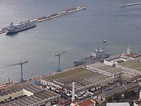 The Royal Navy's base in Gibraltar