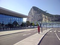 The new terminal at Gibraltar Airport