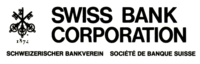 Swiss Bank Corporation logo (ca. 1973), featuring the three keys meant to symbolize confidence, security, and discretion