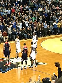 Garnett's first game back with the Timberwolves in 2015.