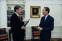 Alexander with President Ronald Reagan in 1986
