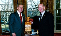 Alexander with President George W. Bush in 2004
