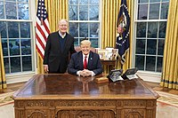 Alexander with President Donald Trump in 2019