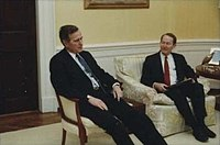 Alexander with President George H. W. Bush in 1991