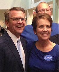 Current Evansville Mayor Lloyd Winnecke and his wife Carol on election night, November 2015