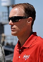 Kevin Harvick won the pole position, setting a new track record.