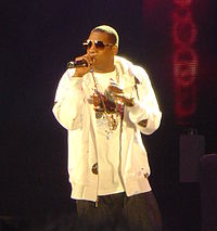 Rapper, entrepreneur and executive Jay-Z emphasizes his wealth.