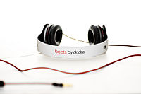 """Rapper Dr Dre has endorsed a line of headphones and other audio gear called """"beats"""", which bear his name."""