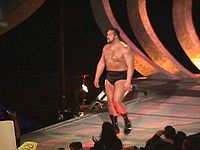 Big Show entering the arena on the SmackDown! entrance way in 1999