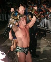 Big Show and Chris Jericho as the Unified WWE Tag Team Champions, forming an alliance known as Jeri-Show