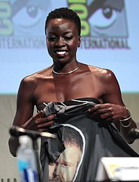 Gurira at the 2015 The Walking Dead Panel at San Diego Comic Con.