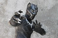 A cosplay of the Black Panther at FanimeCon 2018