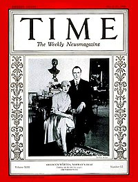 Märtha and Olav on the cover of Time on the occasion of their wedding