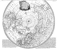 """Emanuel Bowen's 1780s map of the Arctic features a """"Northern Ocean""""."""
