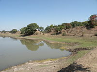 One of few remaining portions of the Paramāra-period ramparts at Dhar