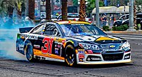 Newman's No. 31 at the 2015 NASCAR Victory Lap on the Las Vegas Strip