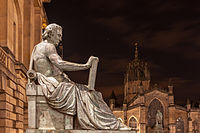 Statue of Hume by Alexander Stoddart on the Royal Mile in Edinburgh
