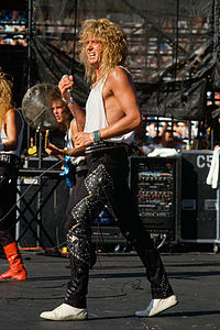 Coverdale performing with Whitesnake in 1987.
