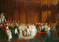 Marriage of Victoria and Albert, painted by George Hayter