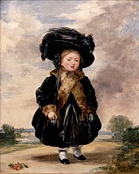 Victoria at age four, by Stephen Poyntz Denning (1823)