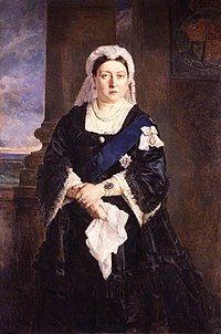 """Victoria admired Heinrich von Angeli's 1875 portrait of her for its """"honesty, total want of flattery, and appreciation of character""""."""