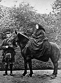 Victoria and John Brown at Balmoral, 1863. Photograph by G. W. Wilson.